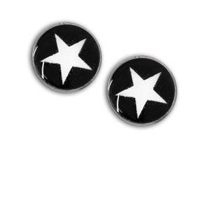 1 Paar Magnet Fake Plug mit Stern Expander pink schwarz rot lila blau Kinder – Bild 6