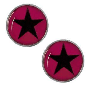 1 Paar Magnet Fake Plug mit Stern Expander pink schwarz rot lila blau Kinder – Bild 11