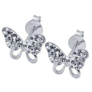 1 Paar Ohrstecker Schmetterlinge echt 925 Sterling Silber  – Bild 3