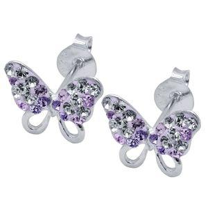 1 Paar Ohrstecker Schmetterlinge echt 925 Sterling Silber  – Bild 4