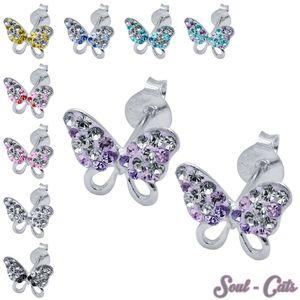 1 Paar Ohrstecker Schmetterlinge echt 925 Sterling Silber