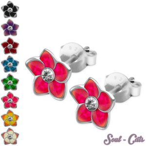 1 Paar Blumen-Ohrstecker aus 925er Sterling Silber – Bild 1