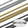 Schlangenkette Halskette Armband Set Panzerkette Edelstahl gold silber schwarz 001
