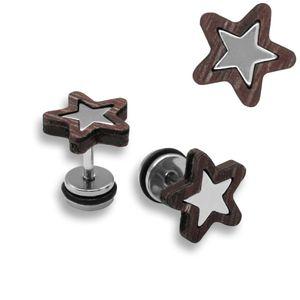 2 Stück schicke Stern Fakeplugs mit Holz – Bild 2