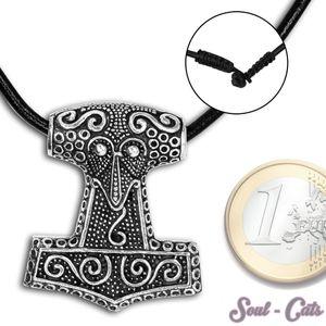 925 er Silber Kettenanhänger Thorshammer – Bild 1