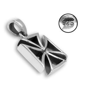 925er echt Silber Kettenanhänger Eisernes Kreuz silbern – Bild 2