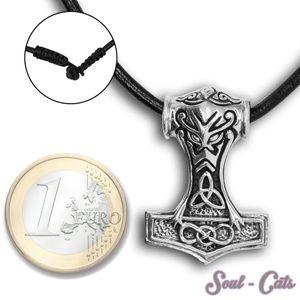 Ein Stück 925 er Silber Kettenanhänger Thorhammer – Bild 1
