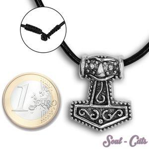 Ein Stück 925 er Silber Kettenanhänger Thorhammer