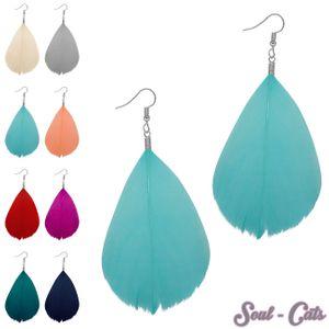 1 Paar Federohrringe in schönen Farben