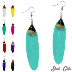 1 Paar Federohrringe in verschiedenen Farben – Bild 1