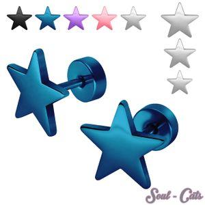 1 Paar trendige Fakeplug Sterne – Bild 1