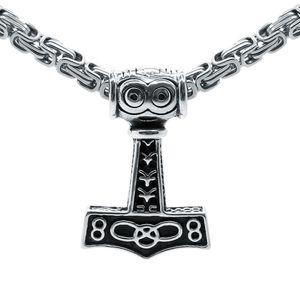 Thorshammer Anhänger Königskette Mjölnir Hammer – Bild 3