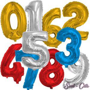 1 Stück Folienballon Zahl groß