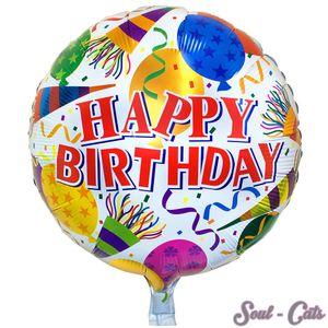 1 Stück Folienballon Happy Birthday rund – Bild 1