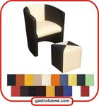 Clubsessel / Cocktailsessel / Loungesessel / Farbe wählbar / mit Hocker / double 001