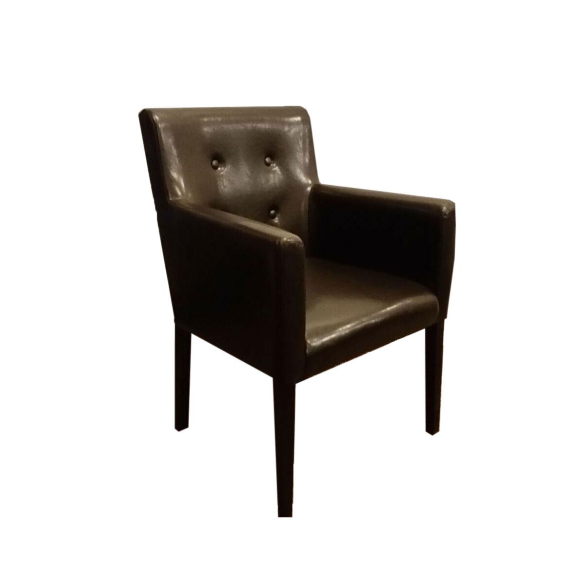 eleganter stuhl salon mit armlehne gastronomiem bel st hle kunstleder. Black Bedroom Furniture Sets. Home Design Ideas