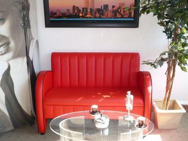 BEL AIR 2-Sitzer / Dinerbank / Sofa / Lounge / Clubsofa Sitzbank  – Bild 1