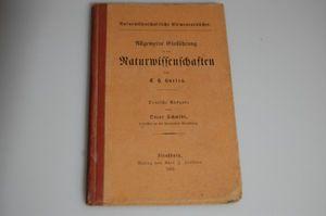 Allgemeine Einführung in die Naturwissenschaften 1882 von T.H. Hurley