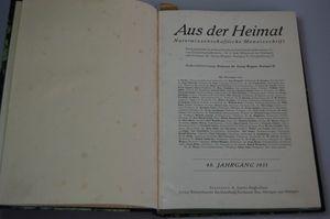 Aus der Heimat Naturwissenschaftliche Monatsschrift 46. Jahrgang 1933
