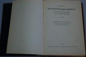 Ausgewählte Reifeprüfungsaufgaben an den höheren Lehranstalten 1. Band 1960