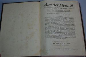 Aus der Heimat Naturwissenschaftliche Monatsschrift 48. Jahrgang 1935