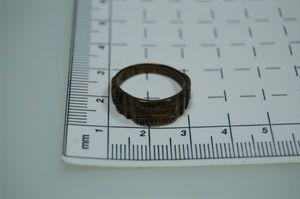 original antike Grabenarbeit Frankreich WW1 1915 Ring Bronze Franc-Münze Liberté