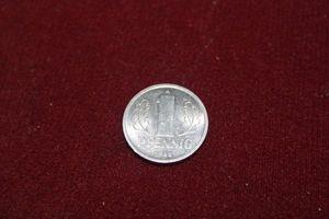 DDR 1 Pfennig original Ostalgie vintage GDR
