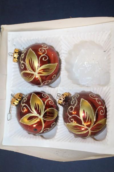 Pastellfarbene Christbaumkugeln.Details Zu 3 Schone Weihnachtskugeln Christbaumkugeln Weihnachtsschmuck Christbaumschmuck