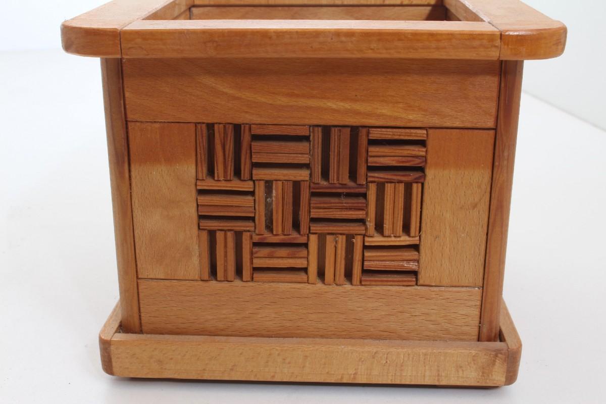 blumentopf blumenk bel bertopf holz echte handarbeit einzelst ck mosaik 8 ebay. Black Bedroom Furniture Sets. Home Design Ideas