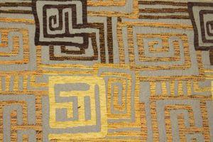 Möbelstoff Polsterstoff Stoff Meterware gelb gold braun Töne