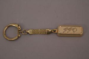 FFO Schlüsselanhänger Goldbarren 999,9 50 g Anhänger goldfarben