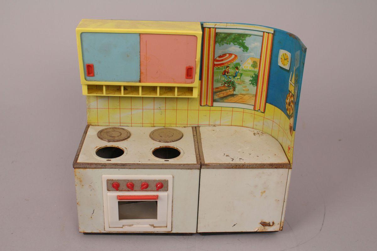 Dettagli su Martin Fuchs Cucina Cucinino Stufa Forno Armadio Giocattolo di  Latta