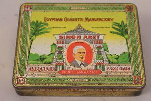 Zigarettendose Blech Simon Arzt Egyptian Cigarette Manufactory 70 L Large Size