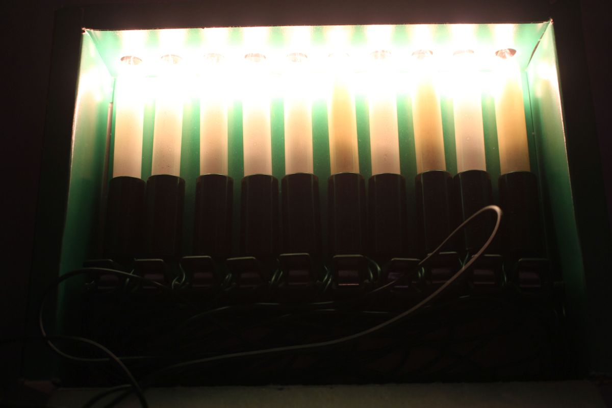 Weihnachtsbeleuchtung Innen Kerzen.Lichterkette Weihnachtsbeleuchtung 10 Kerzen Für Innen Weihnachten W Germany