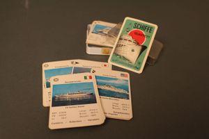 Schiffe Quartett ASS 647 Kartenspiel Altenburg Stralsunder Spielkarten 50er