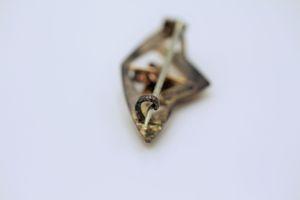 Biedermeier Brosche Kupfer Opal Blume historisch geschützes design Anstecknadel