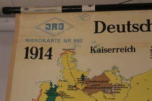 Schulwandkarte Rollkarte Lehrtafel Landkarte Deutschland im 20. Jhd. JRO