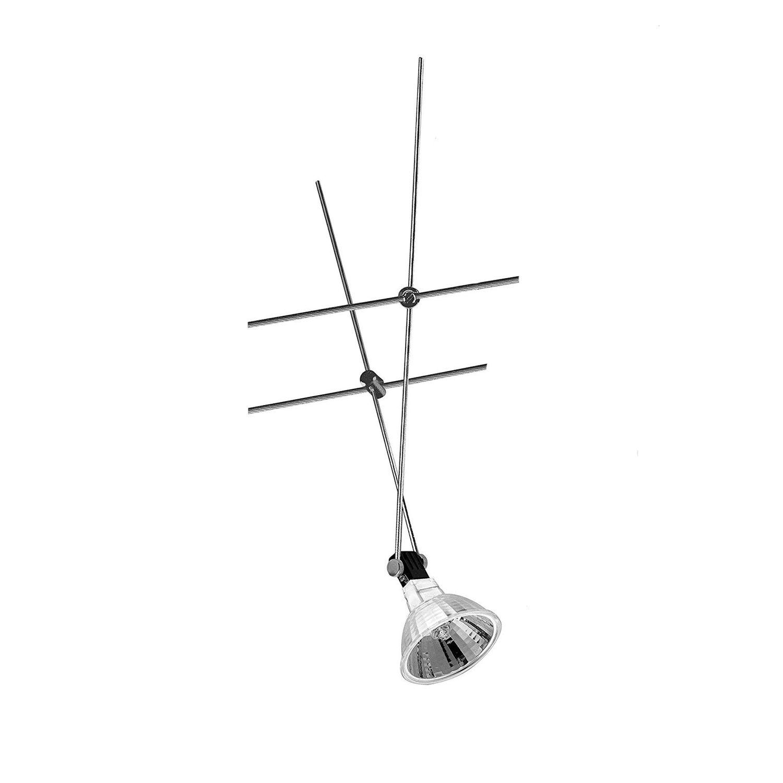 Nice Price Seil Spot Seilsystem 12V 20W inkl. Leuchtmittel Chrom 20watt 001