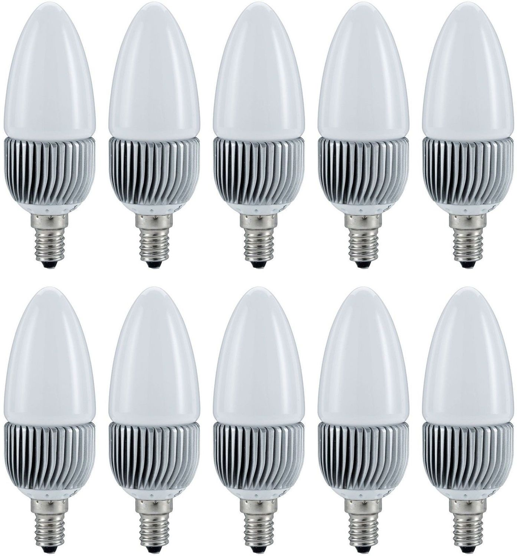 10er set paulmann led kerze 1x3w e14 warmwei ca 20w licht. Black Bedroom Furniture Sets. Home Design Ideas