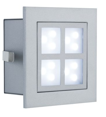 Paulmann Special Einbauleuchte Set Wand LED Window 2 2W 230V 90mm Alu matt/Metall