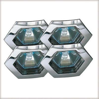 995.68 Paulmann Einbauleuchten Premium EBL Set Hexa 4x35W 150VA 230/12V GU5,3 79mm Chrom/Alu Zink