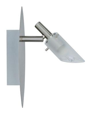 3677 Nice Price Wandleuchten Nice Price Spotlights C Balken 1x40W G9 Nickel satiniert/Satin 230V Metall/Glas