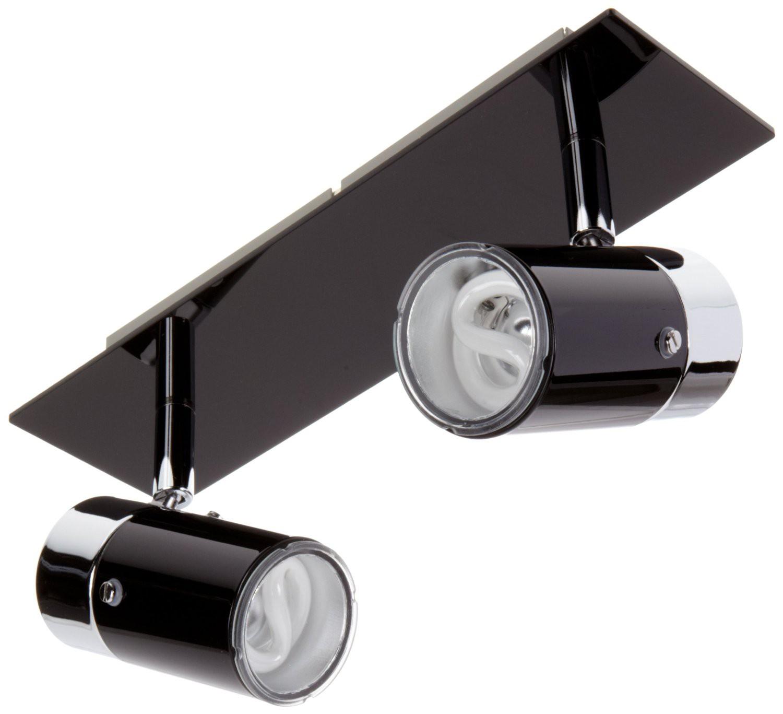 paulmann zyli schwarz gu10 wandlampe deckenleuchte je 7w 230v sparlampe. Black Bedroom Furniture Sets. Home Design Ideas