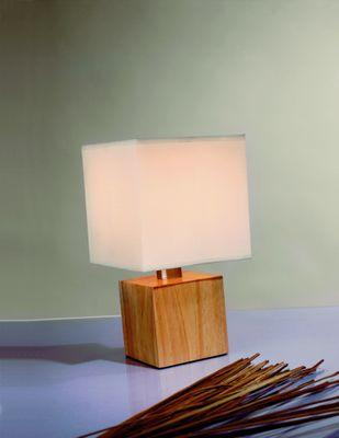 Paulmann Table&Desk Asta Tischleuchte max.1x40W E14 Holz/Weiß 230V Holz/Stoff
