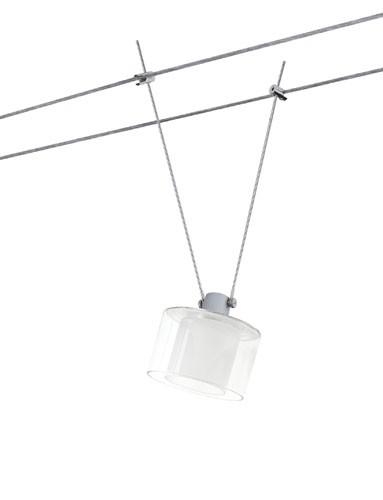 Paulmann Lampenschirme 60053 DecoSystems Schirm Zyli max.50W Glas Weiß/Schwarz