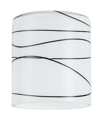 DecoSystems Schirm Zyli max.50W Glas Weiß/Schwarz