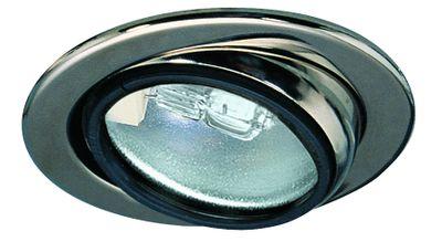 Paulmann Möbel Einbauleuchte schwenkbar max.20W 12V G4 69mm Chrom/Stahlblech/Glas