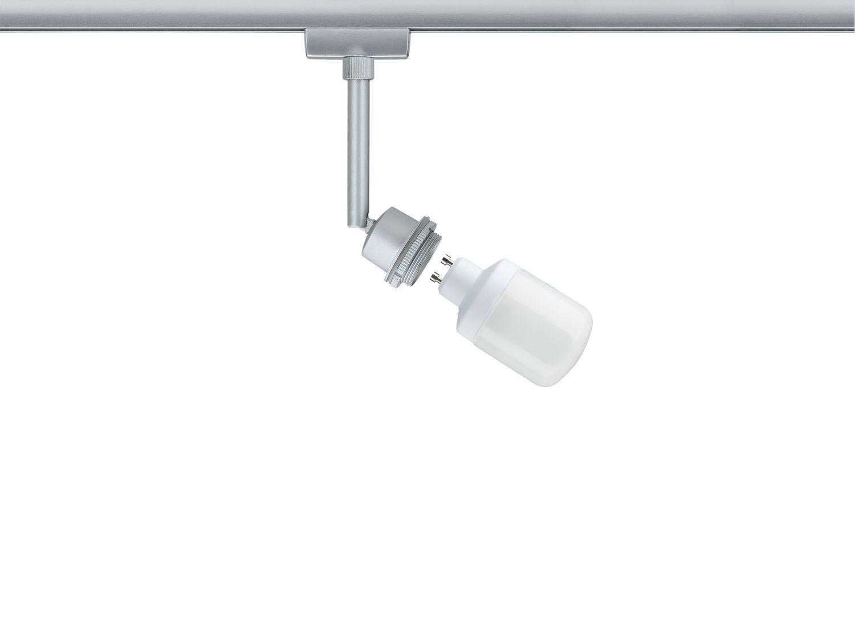 Paulmann 950.22 URail Schienensystem DecoSystems Energiesparlampe Spot 1x9W GU10 Chrom matt 230V Metall