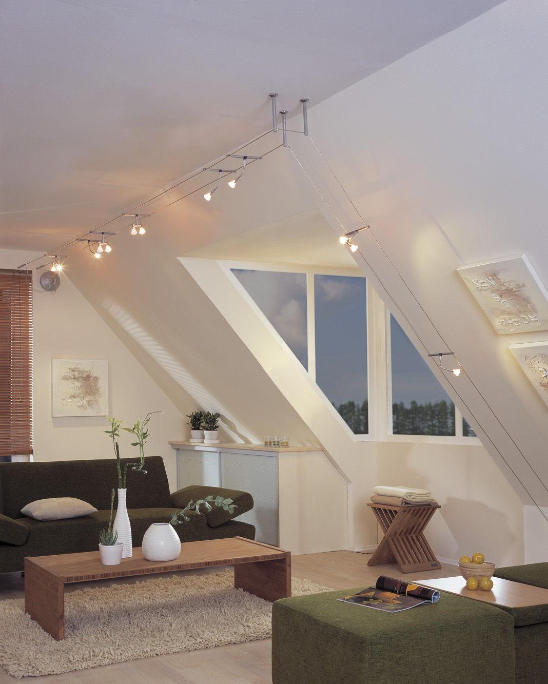 paulmann halogen seil spot 12v seilsystem 160mm seilabstand gu5 3 gu4 g4. Black Bedroom Furniture Sets. Home Design Ideas