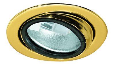 Paulmann Möbel Einbauleuchte schwenkbar max.20W 12V G4 69mm Gold/Stahlblech/Glas